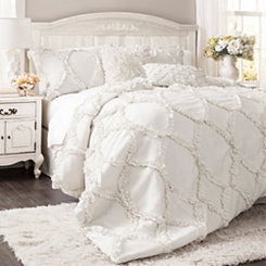 White Avon 3-pc. Queen Comforter Set