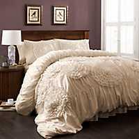 Ivory Serena 3-pc. Queen Comforter Set