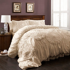 Ivory Serena 3-pc. Queen Comforter Set