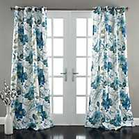 Floral Paisley Blue Curtain Panel Set, 84 in.