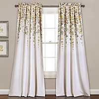 Yellow Flowers Curtain Panel Set, 84 in.