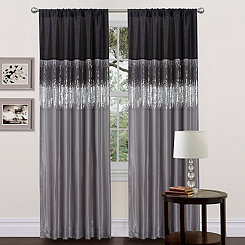 Night Sky Sequin Curtain Panel, 84 in.