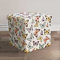 Flutter Butterfly Collapsible Storage Ottoman