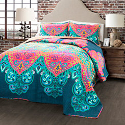 Boho Chic 3-pc. King Quilt Set