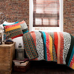 Boho Stripe 3-pc. Full/Queen Quilt Set