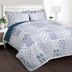Monique Patchwork 3-pc. Full/Queen Quilt Set