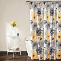 Yellow and Gray Leah Shower Curtain