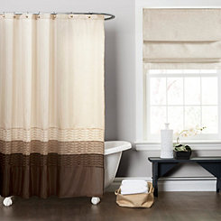 Chocolate Mia Shower Curtain
