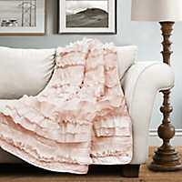 Belle Pink Ruffle Blanket