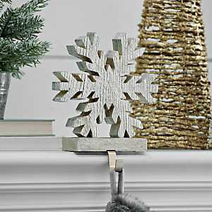 Champagne Snowflake Stocking Holder