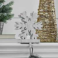 White Snowflake Stocking Holder