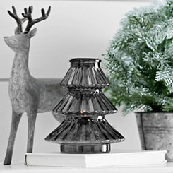 Smoke Glass Christmas Candle Holder