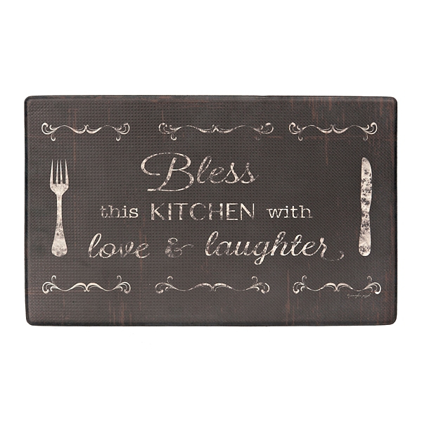 Bless This Kitchen With Love And Laughter Mat