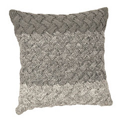 Gray Ombre Knit Pillow