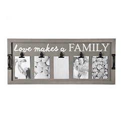 Love Makes a Family Tray Clip Collage Frame
