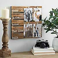 House That Love Built Pallet Clip Collage Frame