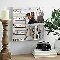 Family Wood Pallet Clip Collage Frame