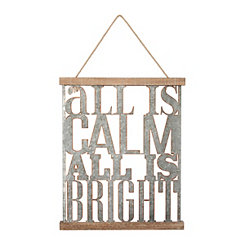 All Is Calm All Is Bright Wall Plaque