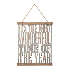 Most Wonderful Time Of The Year Wall Plaque