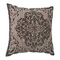 Distressed Gray Damask Pillow