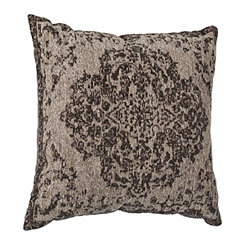 Distressed Gray Damask Pillow