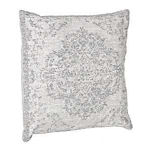 Distressed Aqua Damask Pillow