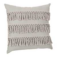 Gray Monet Fringe Pillow