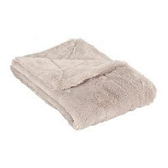 Oatmeal Serengeti Fur Blanket