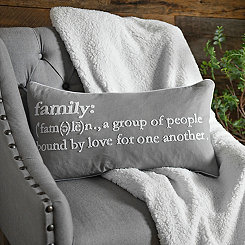 Definition of Family Accent Pillow