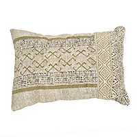 Golden Mixed Media Accent Pillow