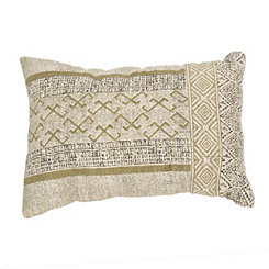 Golden Mixed Media Accent Pillow