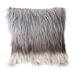 Ombre Gray Fur Pillow