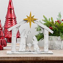 Holy Family Wood Nativity Scene