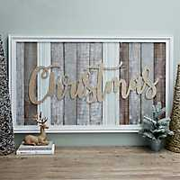 Gold Glitter Christmas Wall Plaque