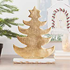 Golden Tree with Marble Base, 14.5 in.