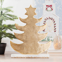 Golden Tree with Marble Base, 18 in.