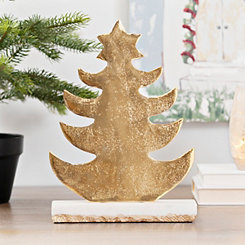 Golden Tree with Marble Base, 11 in.