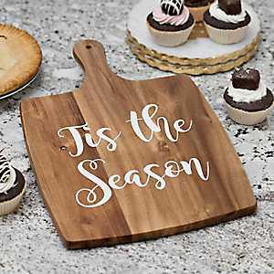 Tis The Season Square Wood Cutting Board