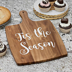 Tis The Season Square Wood Cutting Board