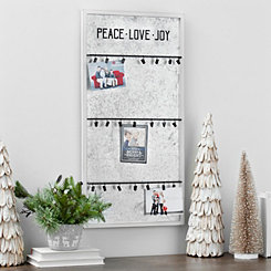 Galvanized Metal Holiday Board