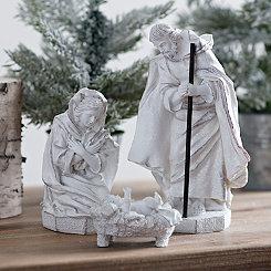 White Holy Family Nativity Set