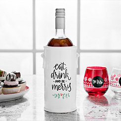 Eat Drink Be Merry Wine Bottle Holder