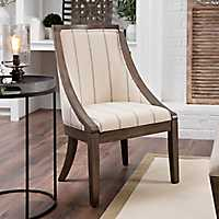 Andrea Farmhouse Stripe Accent Chair
