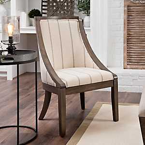 Andrea Farmhouse Stripe Accent Chair