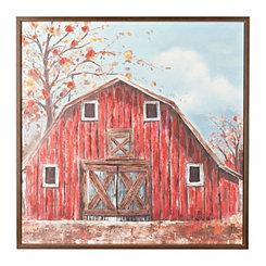 The Red Barn Framed Canvas Art Print