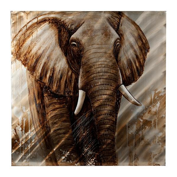 elephant metal art print