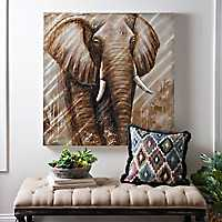 Elephant Metal Art Print