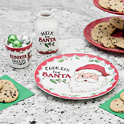 Santa Cookies Plate, Jug, and Mug Set
