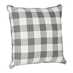 Gray and White Buffalo Check Pillow