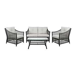 Open Weave Wicker 4-pc. Outdoor Furniture Set
